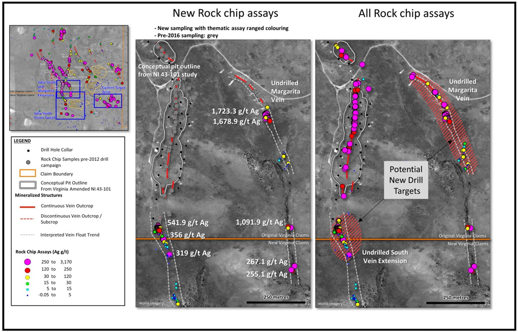Silver Sands - Virginia Property Rock Chip Assays